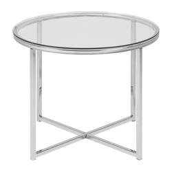 Stolik kawowy Udbina szklany średnica 55 cm
