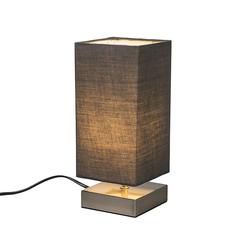 Moderne Tischlampe grau mit Stahl - Milo