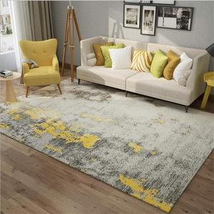 YXISHOME Teppiche Modern Ultra Soft Touch Extra großes Wohnzimmer Schlafzimmer Teppich Chic Grau Gelb Ink Teppich 120X160cm