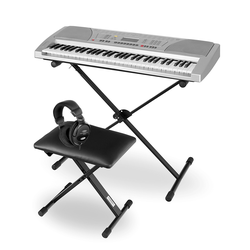 FunKey 61 SL Keyboard Mega Kit silber