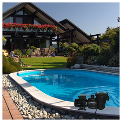 Oskar Pool-Filterpumpe Poolpumpe Schwimmbadpumpe mit Vorfilter 16 m³