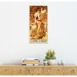 Posterlounge Wandbild, Cognac Bisquit 20 cm x 40 cm