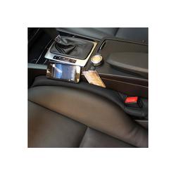 IVSO Autositzbezug Autositzauflage, Autositz Lückenfüller Lückenkissen(2-St) schwarz