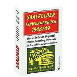 SAALFELDER Einwohnerbuch 1948/49 - Buch