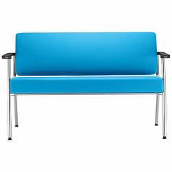 ZONE 2-Sitzer Sofa mit Armauflagen aus Buchenholz