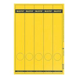 Ordnerrücken-Etiketten gelb, Leitz, 5 cm