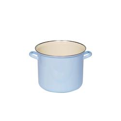 Riess Kochtopf Topf 18 cm mit Chromrand Blau, Email, (1-tlg), Empfohlen bei Nickelallergie