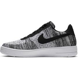 Nike Men's Air Force 1 Flyknit 2.0 black/black/white/pure platinum 42