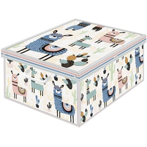 Aufbewahrungsbox aus Karton, groß, 1 Einheit, Modell LAMAS