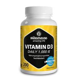 VITAMIN D3 1.000 I.E. daily vegetarisch Tabletten 200 St