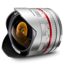 Walimex Pro 8/2,8 Fish-Eye für Samsung NX silber Fish-Eye-Objektiv
