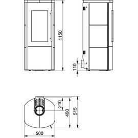 Hark Lova ECOplus RUA 6 kW Kachel creme