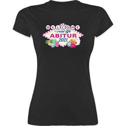 Shirtracer T-Shirt Abitur 2021 - Welcome to real life - Abitur & Abschluss 2021 Geschenk - Damen Premium T-Shirt Abi Geschenke L