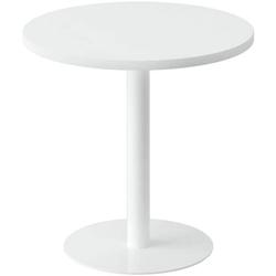 Beistelltisch Ø 60 cm weiß, easyDesk, 60x60x60 cm