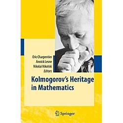 Kolmogorov's Heritage in Mathematics - Buch