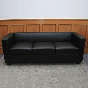 sofa kunstleder schwarz preisvergleich. Black Bedroom Furniture Sets. Home Design Ideas