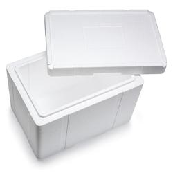 Isolierbox mit Deckel aus Styropor EPS, 596 x 396 x 447 mm, 50 Liter