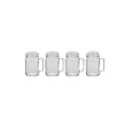 HTI-Living Schnapsglas Schnapsgläser mit Henkel 4er Set