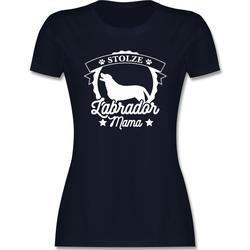 Shirtracer T-Shirt Stolze Labrador Mama - Hunde - Damen Premium T-Shirt - T-Shirts hunde labrador tshirt M
