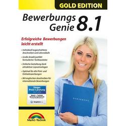 Markt & Technik BEWERBUNGS GENIE 8.1 Vollversion, 1 Lizenz Windows Bewerbungs-Software