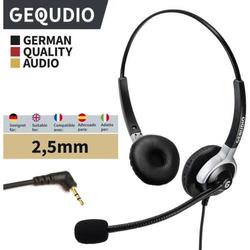 Headset 2-Ohr mit 2,5mm Klinke kompatibel für Gigaset/Cisco-SPA/Panasonic