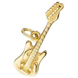 JOBO Kettenanhänger Gitarre, 925 Silber vergoldet