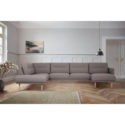 andas Wohnlandschaft Brande, in skandinavischem Design grau