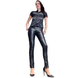 Fetish-Design Lederhose Lederhose Skinny Schwarz 5XL (50)