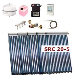 Solarpaket Thermoflux SRC 20-5 mit Vakuumröhrenkollektoren mit 15,55m²