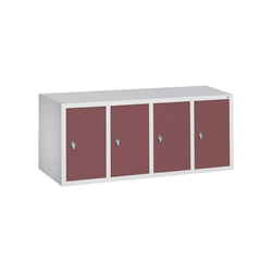 CP Aufsatzschrank Aufsatzschrank, Tür einwandig glatt rot 119 cm x 50 cm x 50 cm