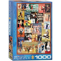 empireposter Puzzle Vintage Art Deco - Klassische Tanzplakate - 1000 Teile Puzzle im Format 68x48 cm, 1000 Puzzleteile