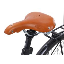 Gusti Leder Fahrradsattel Mark C., Fahrradsattel Ledersattel Vintage-Sattel Retro-Sattel mit Löchern Fahrrad Braun Leder braun