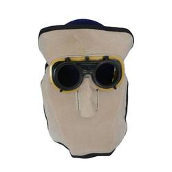 Schweißer Lederhaube Schweiß Ledermaske Schweißerschutzmaske Schweinsleder - Größe:45 cm, Ausführung:mit Haube