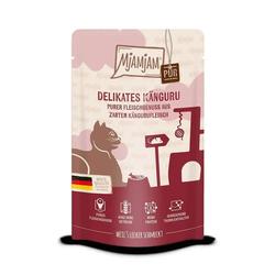 MjAMjAM - Premium Nassfutter für Katzen - Quetschie - purer Fleischgenuss - zartes Känguru pur 12 x 125 g