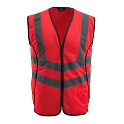 MASCOT® unisex Warnweste Wingate  rot Größe XL