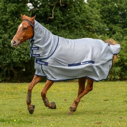 Bucas Buzz Off Fliegendecke Full Neck, Gr. 155 cm - blau