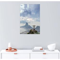 Posterlounge Wandbild, Der Christus und der Zuckerhut 40 cm x 60 cm