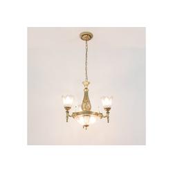 Licht-Erlebnisse Kronleuchter ASTA Kronleuchter Wohnzimmer Glas Jugendstil floral Esszimmer E27 Lampe