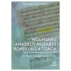 Wolfgang Amadeus Mozarts Rondo alla turca  Bearbeitung für Gitarre. Wolfgang Amadeus Mozart  - Buch