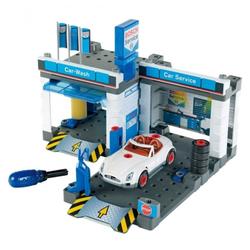 Klein Spielhaus Bosch - Autowerkstatt - blau/weiß