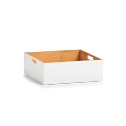 HTI-Living Aufbewahrungsbox Aufbewahrungskiste Bambus weiß, Aufbewahrungskiste 27 cm x 10.5 cm