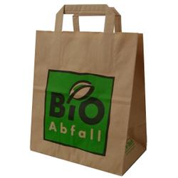 BIOMAT® Bioabfallsäcke aus Papier 8 l mit Henkel, Maße: 220 x 140 x 260 mm, 1-lagiges Kraftpapier, 1 Karton = 240 Beutel