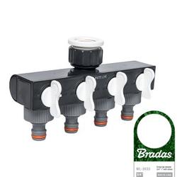 4 Wege-Verteiler Wasserverteiler Schlauchverteiler Regelbar für 1