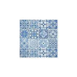 VBS Papierserviette Blaue Fliesen, (20 St), 33 cm x 33 cm