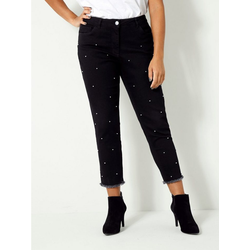 Angel of Style by HAPPYsize Slim-fit-Jeans mit Dekoperlen 46