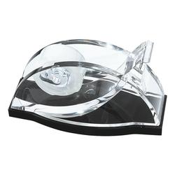 Tischabroller »acryl exklusiv« schwarz, Wedo, 15.1x8.3x6.9 cm