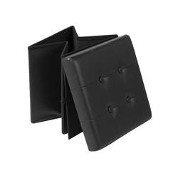 Woltu Sitzhocker, Sitzhocker Sitzwürfel Aufbewahrungsbox Hocker schwarz