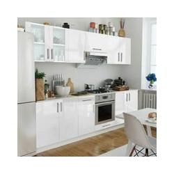 Küchenzeile 8-tlg. Hochglanz Weiß 260 cm
