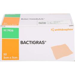 BACTIGRAS antiseptische Paraffingaze 5x5 cm 50 St.