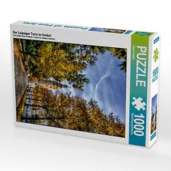 Der Leipziger Turm im Herbst Lege-Größe 48 x 64 cm Foto-Puzzle Bild von Oliver Friebel Puzzle